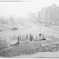 Architect of the Capitol. Cave-in 1st and C St. where gas main and Capitol steam line are layed IV