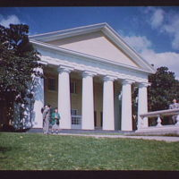 Arlington National Cemetery. Custis-Lee Mansion exterior with people in foreground I