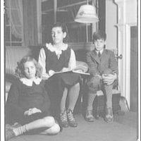 Atcheson children, 2905 P St., N.W. Three children on or around couch II