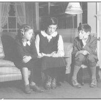 Atcheson children, 2905 P St., N.W. Three children on or around couch III