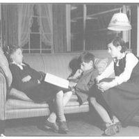 Atcheson children, 2905 P St., N.W. Three children on or around couch IV