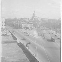 Avenues and streets. Constitution Ave. and Pennsylvania Ave. from Ford Building II
