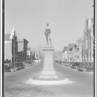 Avenues and streets. Monument to the Confederate Dead of Alexandria