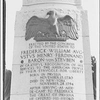 Birds. Eagle (carving on Von Steuben statue)