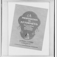 Books. Front cover of A Proposition to attorneys
