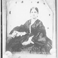 Burke from Alexandria, negative from old daguerreotype. Portrait of woman in nineteenth-century dress seated in chair