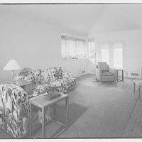 C. Smith, house on 50th St., S.E. Living room in house in 50th St., S.E., to windows