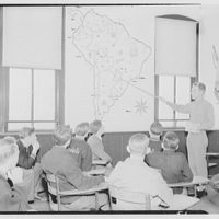 Charlotte Hall Military Academy. Cadets studying map