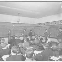 Charlotte Hall Military Academy. Classroom scene at Academy