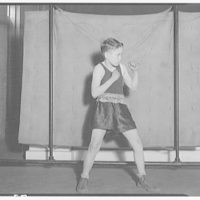 Charlotte Hall Military Academy. Young boxer without gloves