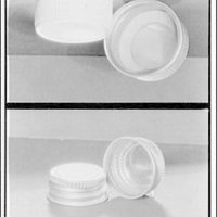 Closures on bottles and jars for glass containers. Lids I