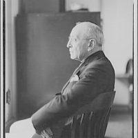 Colonel Schloss. Seated portrait, in profile of Colonel Schloss