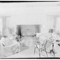Cremona, Major Davidson's residence in Mechanicsville, Maryland by Schuyler & Lounsbery. Living room of Cremona I
