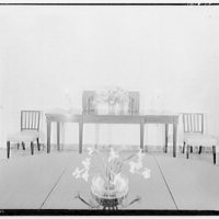 Cremona, Major Davidson's residence in Mechanicsville, Maryland by Schuyler & Lounsbery. Dining room of Cremona II