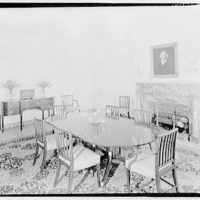 Cremona, Major Davidson's residence in Mechanicsville, Maryland by Schuyler & Lounsbery. Dining room of Cremona I