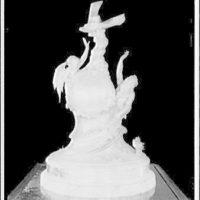 Curtiss Marine Flying trophy. Trophy against black background