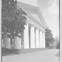 Custis-Lee Mansion. Front view vertical of Custis-Lee Mansion II