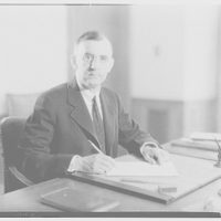 Dr. Joseph Quincy Adams, first director of the Folger Library. Dr. Adams at desk VII
