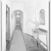 Dr. Oden, office and residence. View down Dr. Oden's hallway