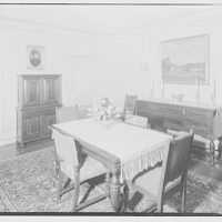 Dr. Oden's apartment. Dining room of Dr. Oden II