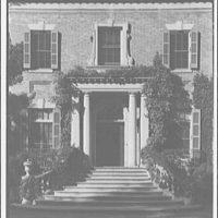 Dumbarton Oaks. Entrance detail of Dumbarton Oaks