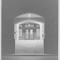Dunbarton College. Entrance of Dunbarton College, night II