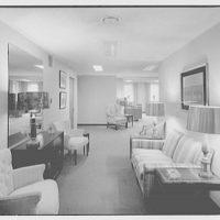 Editors (Kiplinger) Building. Office area in Editors (Kiplinger) Building with couch and chairs lining walls