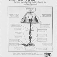 Electric Institute of Washington. Advertisement for the superior lighting qualities of I.E.S. lamps