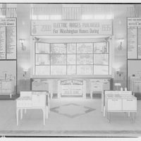 Electric Institute of Washington. Display of pictures of homes and ranges