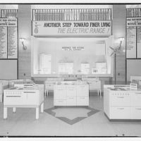 "Electric Institute of Washington. Electric range display with slogan ""Another step toward finer living, the electric range!"""