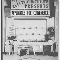 Electric Institute of Washington, Potomac Electric Power Co. Building. Appliances for convenience, bridal gifts II