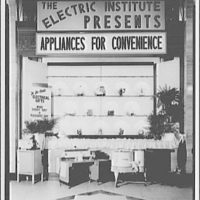Electric Institute of Washington, Potomac Electric Power Co. Building. Appliances for convenience, bridal gifts I