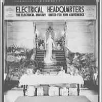 Electric Institute of Washington, Potomac Electric Power Co. Building. Bride and table with gifts in foreground II