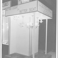 "Electric Institute of Washington, Potomac Electric Power Co. Building. Case display with slogan ""Better light for better sight"""