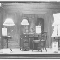 Electric Institute of Washington, Potomac Electric Power Co. Building. Display with lamps, desk and screen