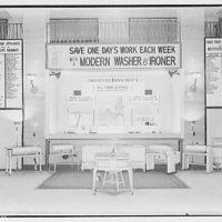 Electric Institute of Washington. Washing machine and ironer display