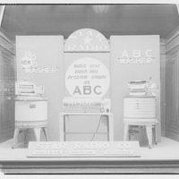 Electric Institute of Washington. Window, Star Radio Co. washer and ironer