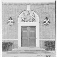 Embassies and legations. British Embassy, close-up of chancery door I