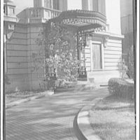 Embassies and legations. Russian Embassy, doorway and drive