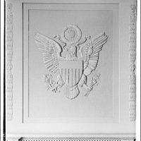 Emblems and seals. U.S. seal in Federal Reserve boardroom I