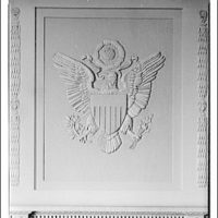 Emblems and seals. U.S. seal in Federal Reserve boardroom II