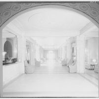 Envoy, formerly Meridian Mansions, 2400 16th St. View through arch of lobby in Meridian Mansions