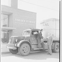 Ervin Wasey Co. Inc., Eaton Manufacturing Co. Truck from National of Washington, D.C. in front of Valley Forge Distributing Co. I