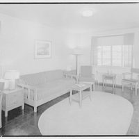 Federal Housing Administration. Living room in seven-room house
