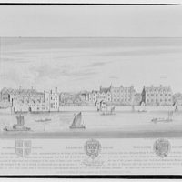 Folger Library copy work. Illustration of Durham, Salisbury and Worcester Houses