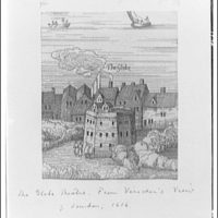 Folger Library copy work. Illustration of the Globe theater in 1616 II