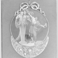 Folger Library copy work. Medal presented to David Garrick in 1777, illustrated side