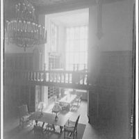 Folger Library interiors. Alcove in reading room, Folger Library