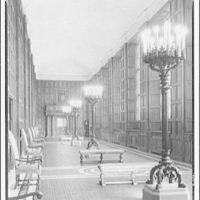 Folger Library interiors. Exhibition hall at Folger Library, empty
