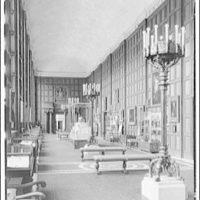 Folger Library interiors. Exhibition hall at Folger Library I